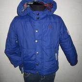 На 4 года Брендовая деми куртка Crew Clothing мальчику