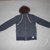 р. 152-158, брендовая! стильная куртка Hoalen, Франция, демисезонная с мехом