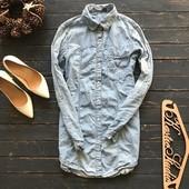 Удлиненная джинсовая рубашка Zara рр M