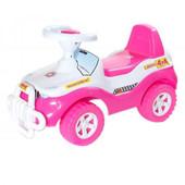 Машинка для катания Джип ярко-розовый  105