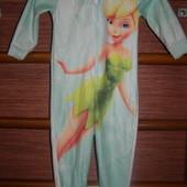 Пижама флисовая на 2-3 года, рост до 98 см