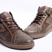 Ботинки кожаные мужские Multi-Shoes олива
