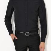 Стильная черная рубашка George, р.M/L