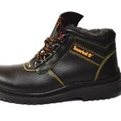Надежные прошитые ботинки по типу берцев (АН-256)