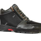 40 и 41 р Теплые зимние мужские ботинки (ПЗ-79чп)