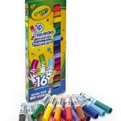 Фломастеры маркеры Crayola 16 смывающиеся Washable Markers