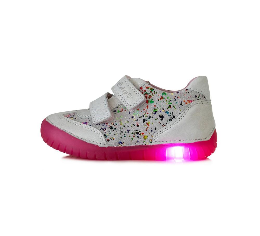 Туфли кожаные d.d.step с led - подошвой фото №1