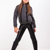 Кожаные теплые лосины, брюки для девочек в наличии