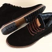 Ботинки зима натуральная замша 2 цвета В92860
