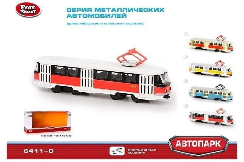 Трамвай инерционный автопром 6411 фото №1