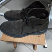 (i361)фирменные кожаные ботинки 42 р UK 7\5 Hogan