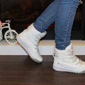 Женские зимние ботинки, луноходы. Цвет белый Р.36-41