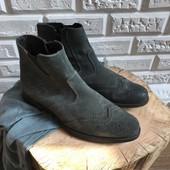 Идеальные замшевые ботинки броги рр 42