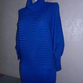 Oodji.Синяя туника,свитер цвета индиго,летучая мышь 36/XS