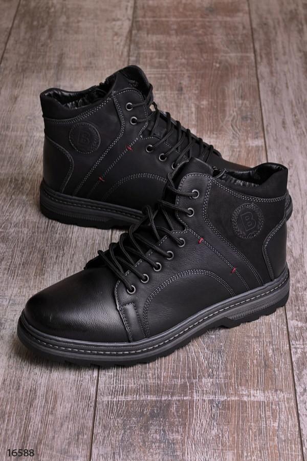 Зимние мужские ботинки на меху фото №1