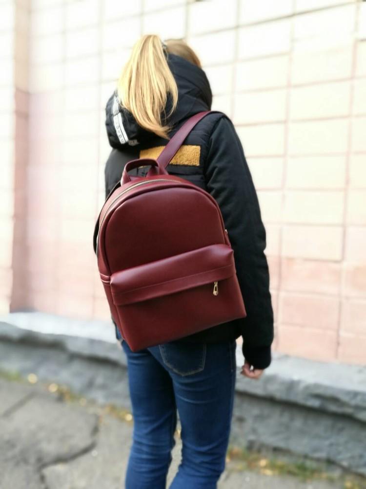 Трендовый рюкзак цвет марсала!!! фото №1
