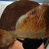Брендовая меховая стильная шапка Isohella Финляндия 57-58