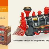 Поезд батар. 829-7 (1276664)  свет, звук, в коробке 21*8*12,5см