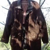 Замшевая классическая куртка, р.50-52.