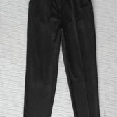 Модные укороченные шерстянные брюки Mom пояс на резинке