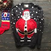 Мужской новогодний свитер с 3D вязкой Cedarwood State рр М