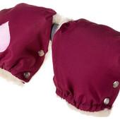 Муфта-рукавицы Qvatro С Аппликацией бордовый (розовое сердце)