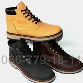 Мужские кожаные ботинки в стиле Timberland, 3 цвета