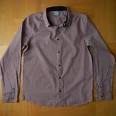 164 см F&F как новая легкая фирменная рубашка. Длина - 65 см, ширина 48 см, плечи 37 см, рукав от пл