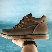 Ботинки Clarks Yuves кожаные на меху, р. 40-45, код gavk-10540