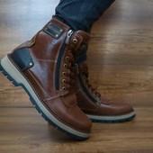 Ботинки Zangak Exclusive кожаные на меху, р. 40-45, код gavk-10446