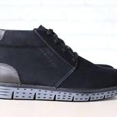 Ботинки зимние кожаные, замшевые на меху, р. 40-45 код nvk-2877