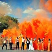 Цветной дым оранжевый, дымовая шашка (60 сек)