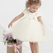Zironka, Нарядное молочное платье с рюшами