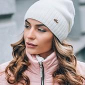 Шапка зимняя с отворотом флисом