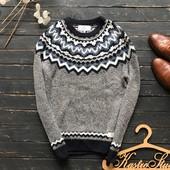 Стильный мужской свитер с орнаментом Next рр С