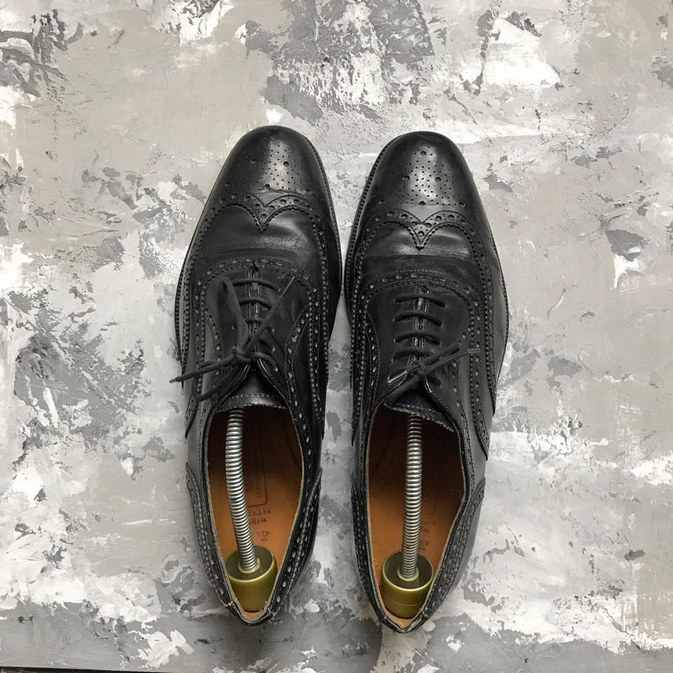 Кожаные туфли броги M&S p-p 42-43 фото №1