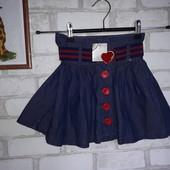 Стильная юбочка Next 3 г т98 см сток