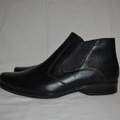 кожаные ботинки  best quality, р. 45
