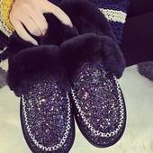 Ботинки, утепленные мокасины, модель 2017