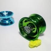 Йо йо металлическое с подшипником  цвет зеленый