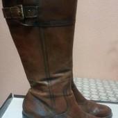Женские демисезонные кожаные сапоги Marco Tozzi. Размер 41-42.
