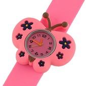 Детские силиконовые часы 100-29 Бабочка