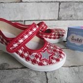 Красные тапочки Алина Шанель 24 р на 15 см