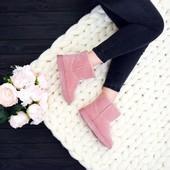 угги низкие розовые