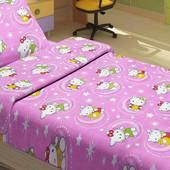 Постельное белье для подростков Lotus Young - Hello Kitty Star розовый ранфорс
