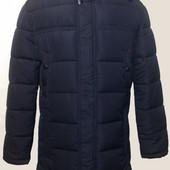 Мужской длинный пуховик на холлофайбере мужское зимнее пальто зимняя куртка