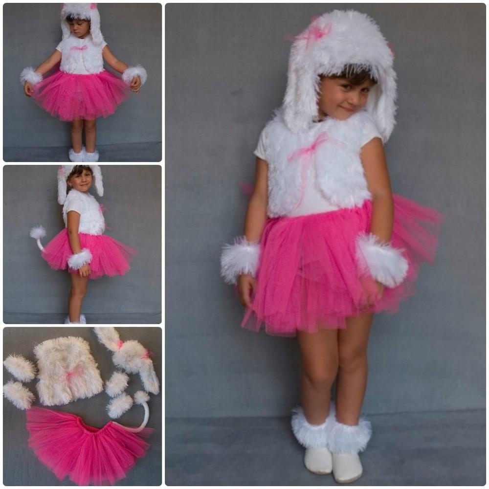 Детский карнавальный новогодний костюм собака, собачка, песик (девочка) фото №1