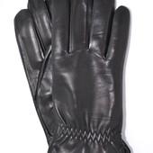 Мужские кожаные перчатки (лайка) на шерстяной подкладке
