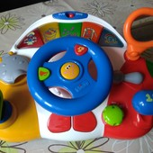 Chicco  развивающая русско-английская двуязычная игрушка руль Умелый водитель чико