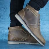 Мужские зимние Ботинки Yuves Оливка
